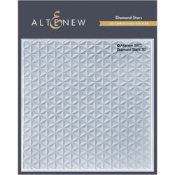Diamond Stars 3D, Altenew Embossing Folder -