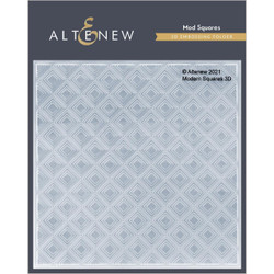 Mod Squares 3D, Altenew Embossing Folder -