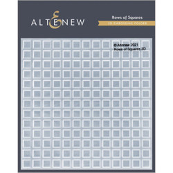Rows of Squares 3D, Altenew Embossing Folder -