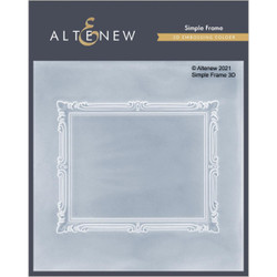 Simple Frame 3D, Altenew Embossing Folder -