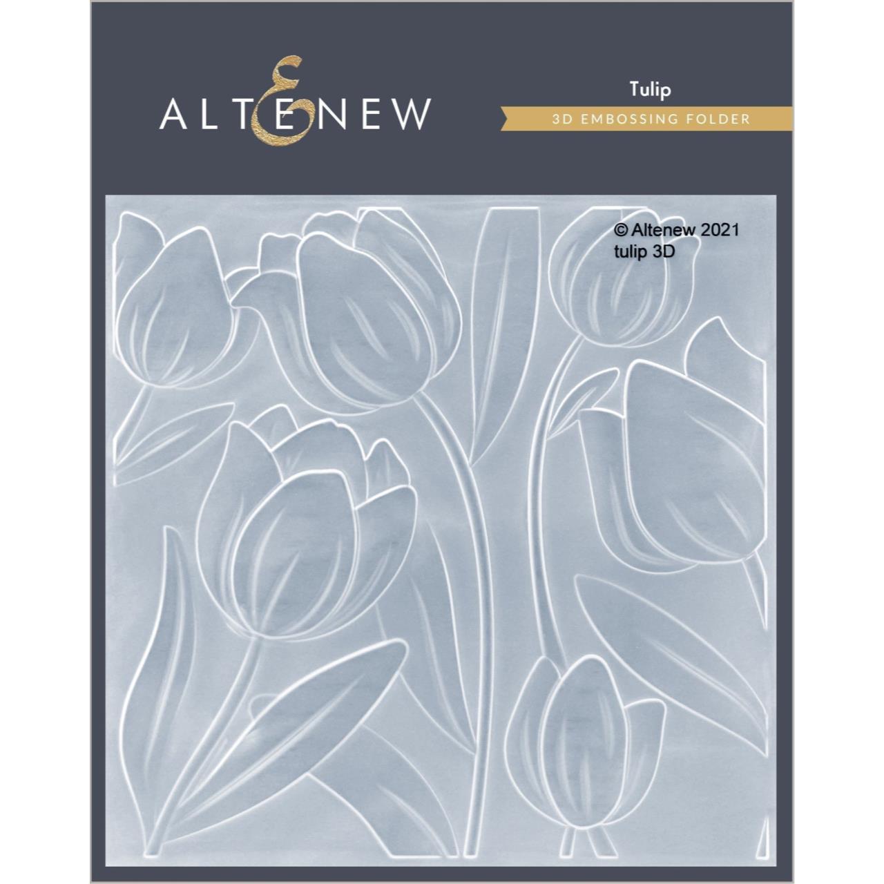 Tulip 3D, Altenew Embossing Folder -