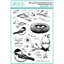 Beautiful Birds, Gina K Designs Clear Stamps -