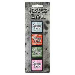 Mini Distress Pad Kit 16, Ranger Distress Mini Ink Pad -