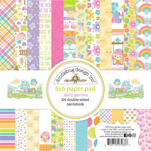 Fairy Garden, Doodlebug 6 X 6 Paper Pad -