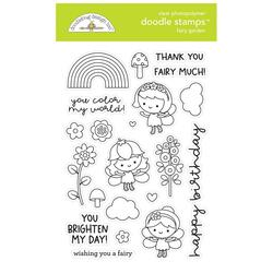 Fairy Garden, Doodlebug Clear Stamps -
