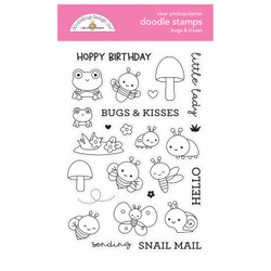Bugs & Kisses, Doodlebug Clear Stamps -