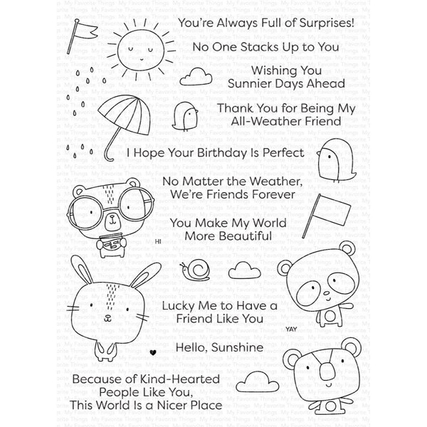 Weather with You, My Favorite Things Clear Stamps -