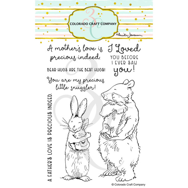 Snuggles by Anita Jeram, Colorado Craft Company Clear Stamps -