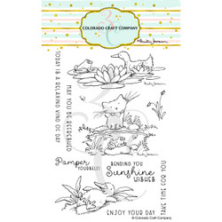 Pond Pampering by Anita Jeram, Colorado Craft Company Clear Stamps -