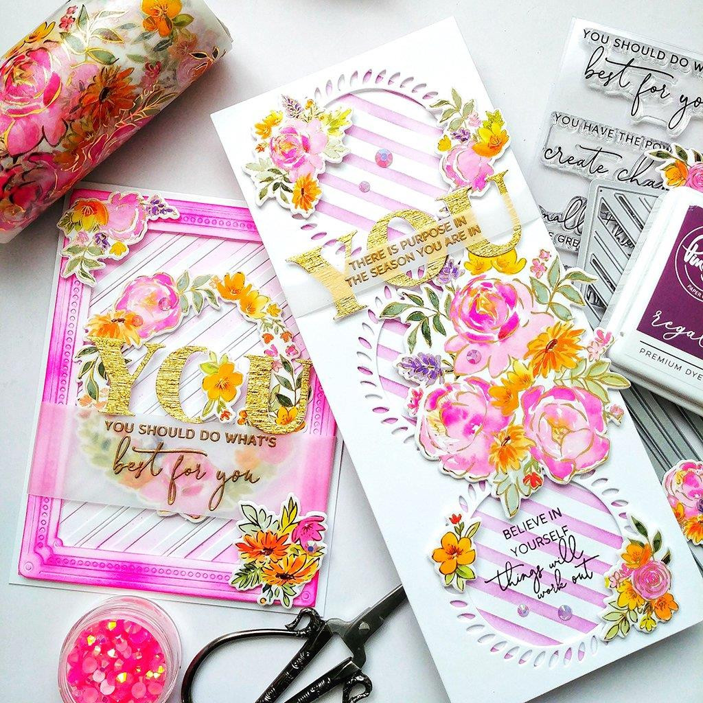 Painted Peony Mix, Pinkfresh Studio Clear Stamps -