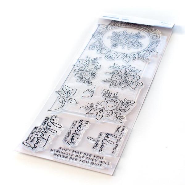 English Garden, Pinkfresh Studio Clear Stamps -