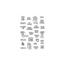 Bookworm Messages, Hero Arts Clear Stamps -