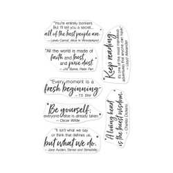 Literary Quotes, Hero Arts Clear Stamps -