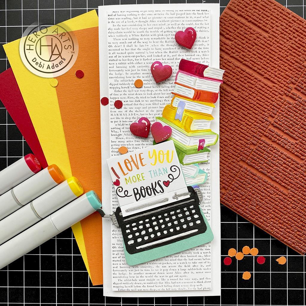 Novel Prose Bold Prints, Hero Arts Cling Stamps -