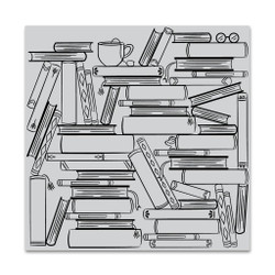 Book Stacks, Hero Arts Cling Stamps -