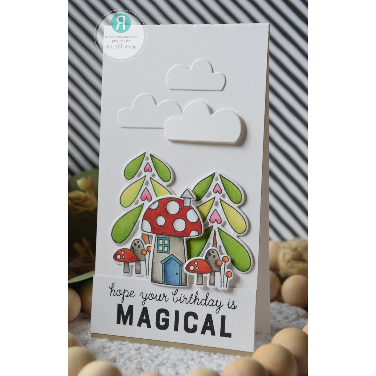 Enchanted Garden, Reverse Confetti Clear Stamps -