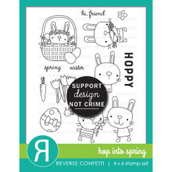 Hop Into Spring, Reverse Confetti Clear Stamps -