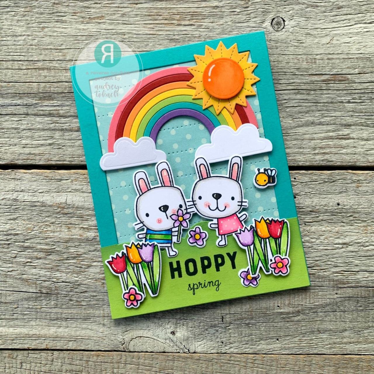 Hop Into Spring, Reverse Confetti Cuts -