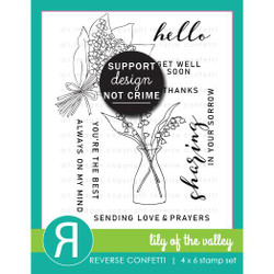 Lily of the Valley, Reverse Confetti Clear Stamps -