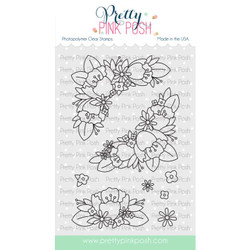 Floral Corners, Pretty Pink Posh Clear Stamps -