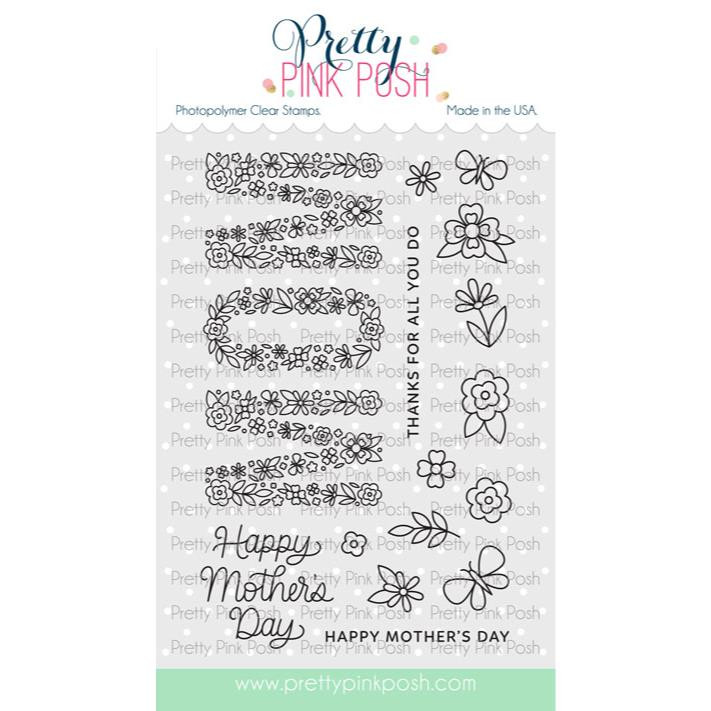 Mom, Pretty Pink Posh Clear Stamps -