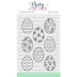 Spring Eggs, Pretty Pink Posh Clear Stamps -