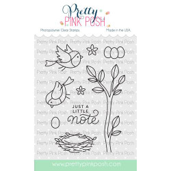 Spring Robins, Pretty Pink Posh Clear Stamps -