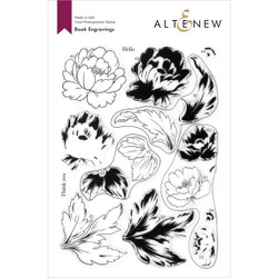 Book Engravings, Altenew Clear Stamps -