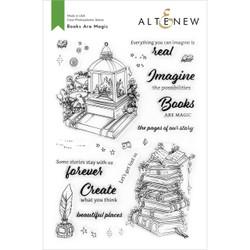 Books Are Magic, Altenew Clear Stamps -