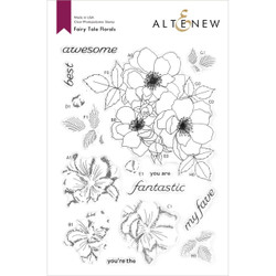 Fairy Tale Florals, Altenew Clear Stamps -