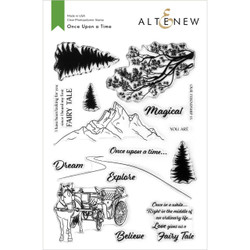 Once Upon a Time, Altenew Clear Stamps -