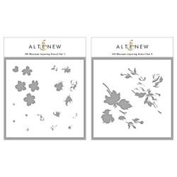 Hill Blossoms, Altenew Stencils -