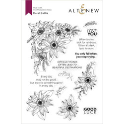 Floral Dahlia, Altenew Clear Stamps -