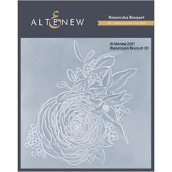 Ranunculus Bouquet 3D, Altenew Embossing Folder -