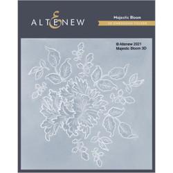 Majestic Bloom 3D, Altenew Embossing Folder -