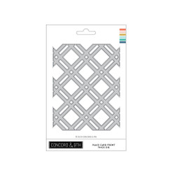 Plaid Card Front Thick, Concord & 9th Dies -