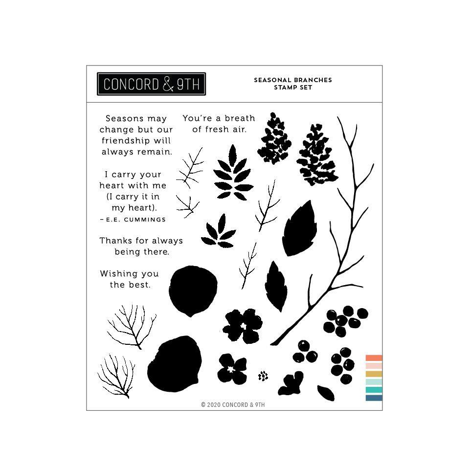 Seasonal Branches, Concord & 9th Clear Stamps -