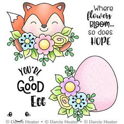 Hope Blooms, Darcie's Clear Stamps -