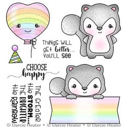 Choose Happy, Darcie's Clear Stamps -