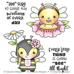 Bee All Right, Darcie's Clear Stamps -