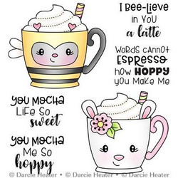 Spring Mugs, Darcie's Clear Stamps -