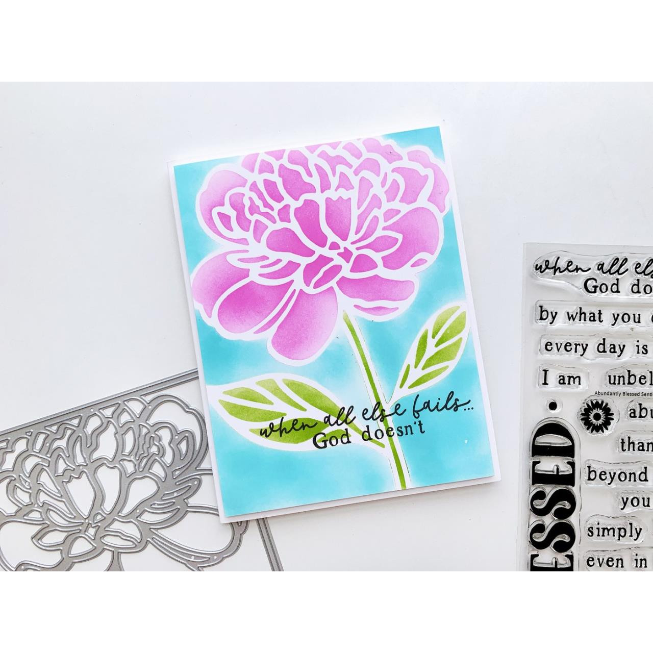 Abundantly Blessed Sentiments, Catherine Pooler Clear Stamps -