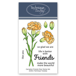 Carnation Friends, Technique Tuesday Clear Stamps -