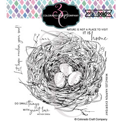 Robin's Nest, Colorado Craft Company Clear Stamps -