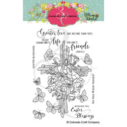 Rose Cross, Colorado Craft Company Clear Stamps -