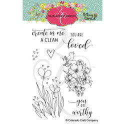 Clean Heart Bookmarks, Colorado Craft Company Clear Stamps -