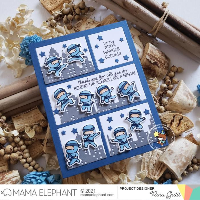Ninja Sayings, Mama Elephant Clear Stamps -