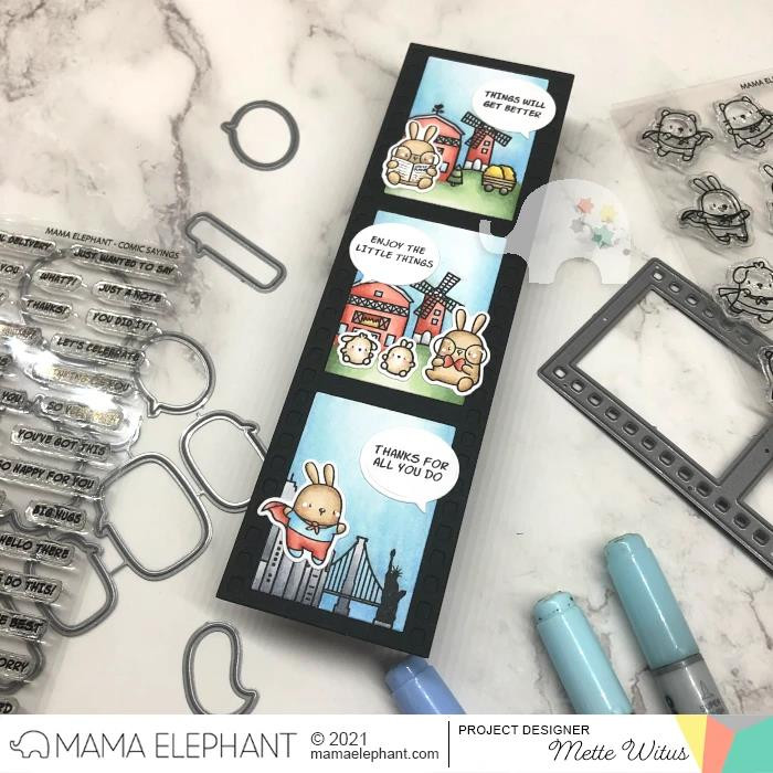 Comic Sayings, Mama Elephant Clear Stamps -