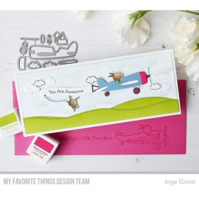 Banner Day Sentiments, My Favorite Things Clear Stamps -