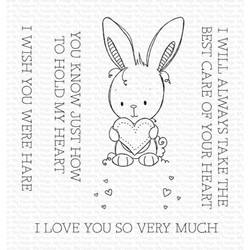 Wish You Were Hare by Rachelle Anne Miller, My Favorite Things Clear Stamps -